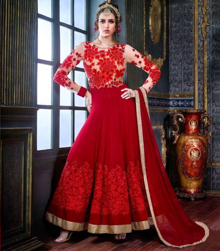 Designer Anarkali Pakistani Salwar Kameez Suit Traditional Indian Bollywood