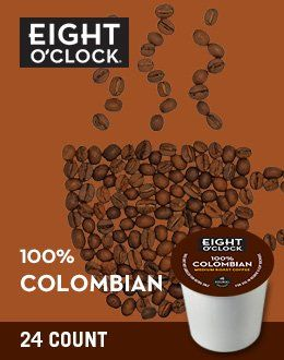 24 Count - Eight O'Clock Colombian Blend k Cup For KEURIG Brewers - http://thecoffeepod.biz/24-count-eight-oclock-colombian-blend-k-cup-for-keurig-brewers/