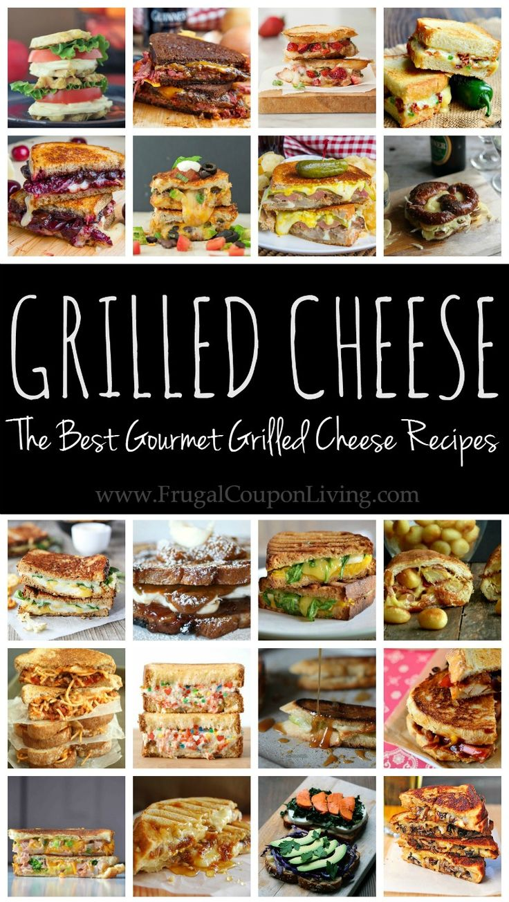The most amazing Grilrled Cheese Recipes - Grilled Cheese with Fruit, Funfetti Grilled Cheese, Brie Grilled Cheese and more!