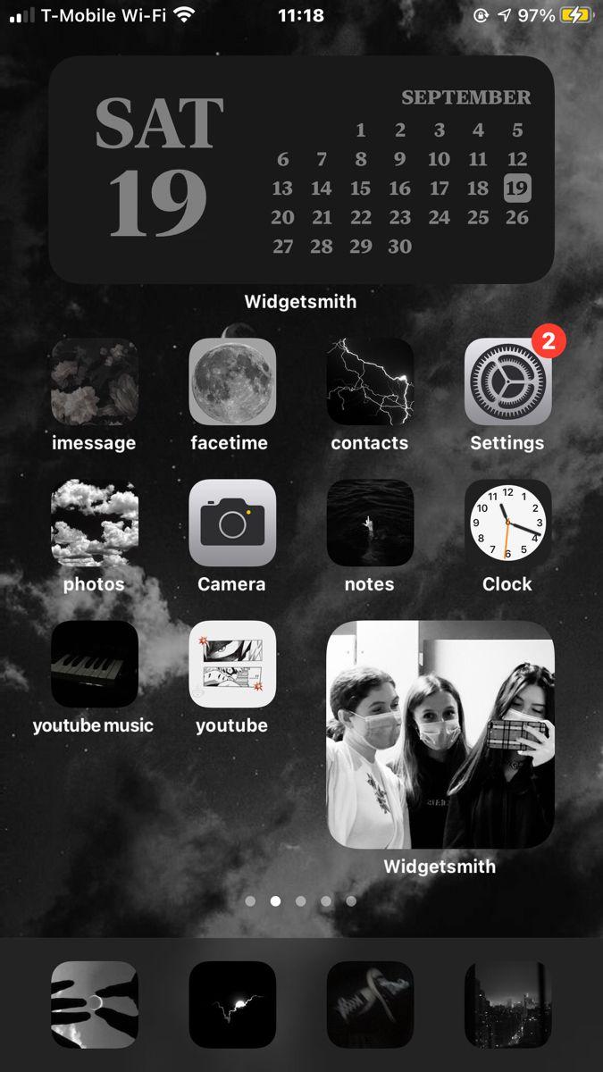 Ios14 Home Screen Aesthetic Ideas In 2020 Iphone Wallpaper App Iphone Organization Iphone App Design