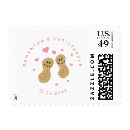 Funny Peanuts Cute Whimsical Wedding Save The Date Postage