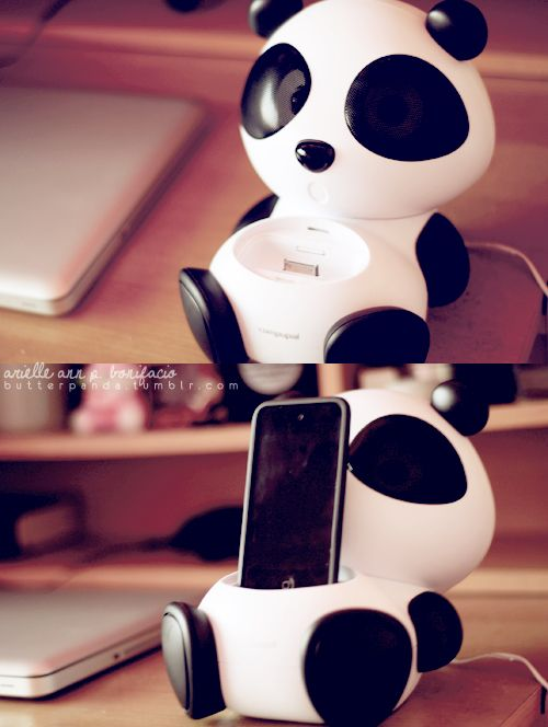 Ooo cute panda speakers for your ipod! http://butterpanda.tumblr.com/