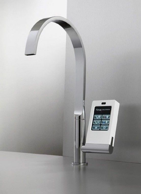 High tech faucet with digital controls
