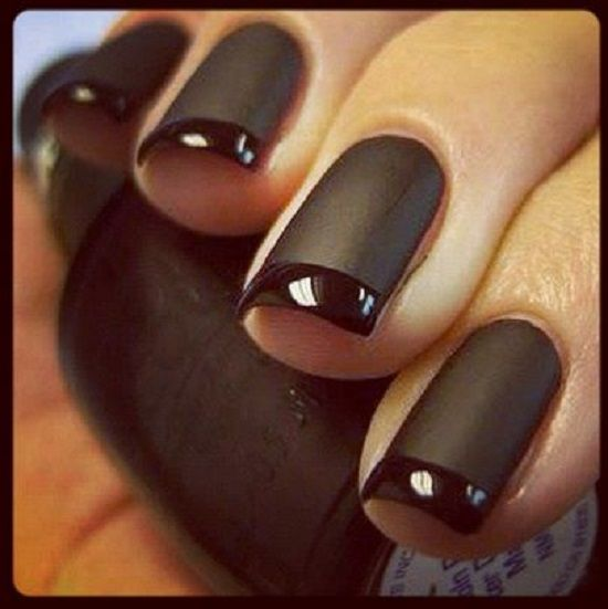 How to make a model of manicure with matte and shiny nailpolish | The place where you craft your beauty..