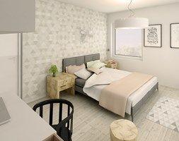 """Słoneczne mieszkanie - Sypialnia, styl nowoczesny - zdjęcie od Pracownia Aranżacji Wnętrz """"O-kreślarnia"""""""