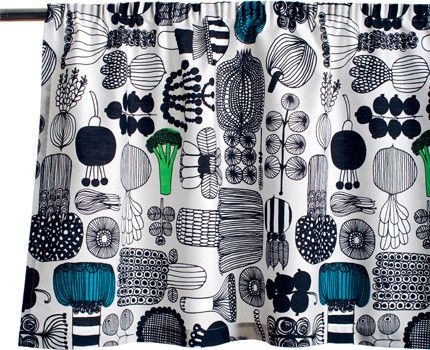 """Mid century modern style  FinnStyle  Marimekko Puutarhurin Parhaat Valance / Pelmet  Price: $79.00 