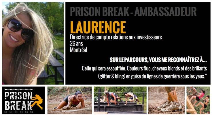 Laurence ambassadrice de la course de MTL à Bromont le 17 août 2013.