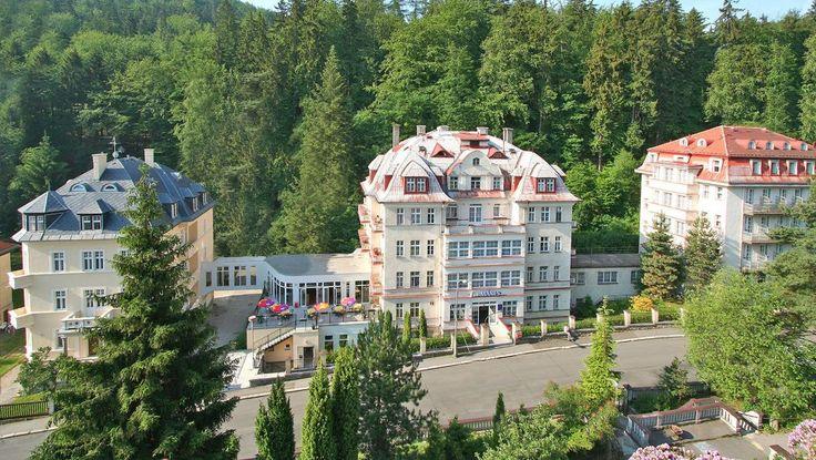 Hotel Manes Capek in Karlsbad Tschechien, Außenansicht
