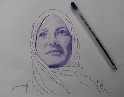 """Check out new work on my @Behance portfolio: """"Portrait with pelikan pen 21x29.7 cm"""" http://be.net/gallery/60362851/Portrait-with-pelikan-pen-21x297-cm"""