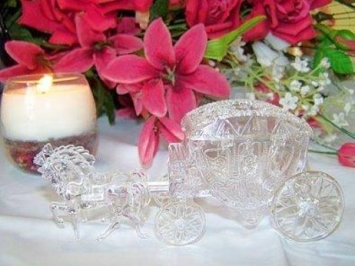 Pack of 6 Clear Horse & Carriage Wedding Favours Boxes
