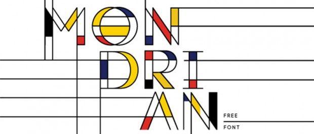 Mondrian Font Free Font