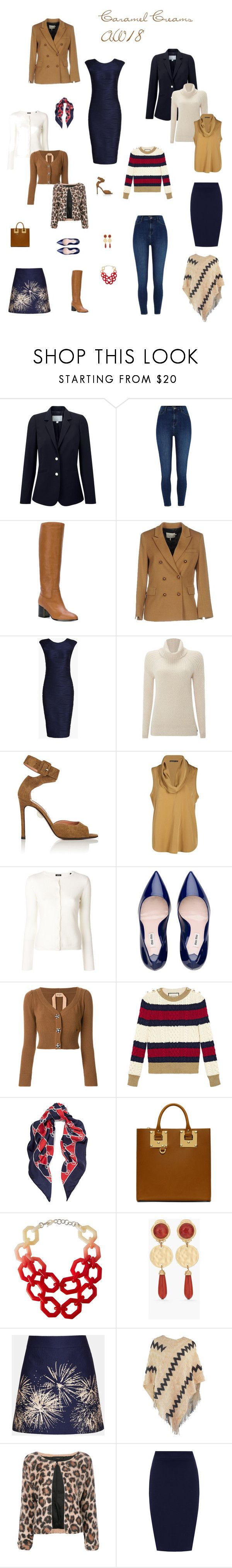 """""""Caramel Creams AW 18"""" by cokie61 on Polyvore featuring Pure Collection, River Island, Jil Sander Navy, L'Autre Chose, WithChic, White Stuff, Samuele Failli, Aspesi, Gucci and Sophie Hulme"""