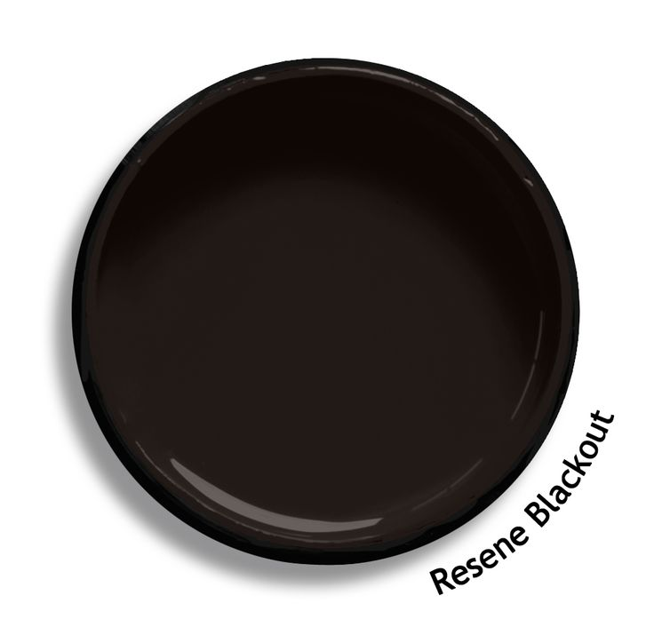 Resene blackout is a strong natured carbon brown with an for Black paint swatch