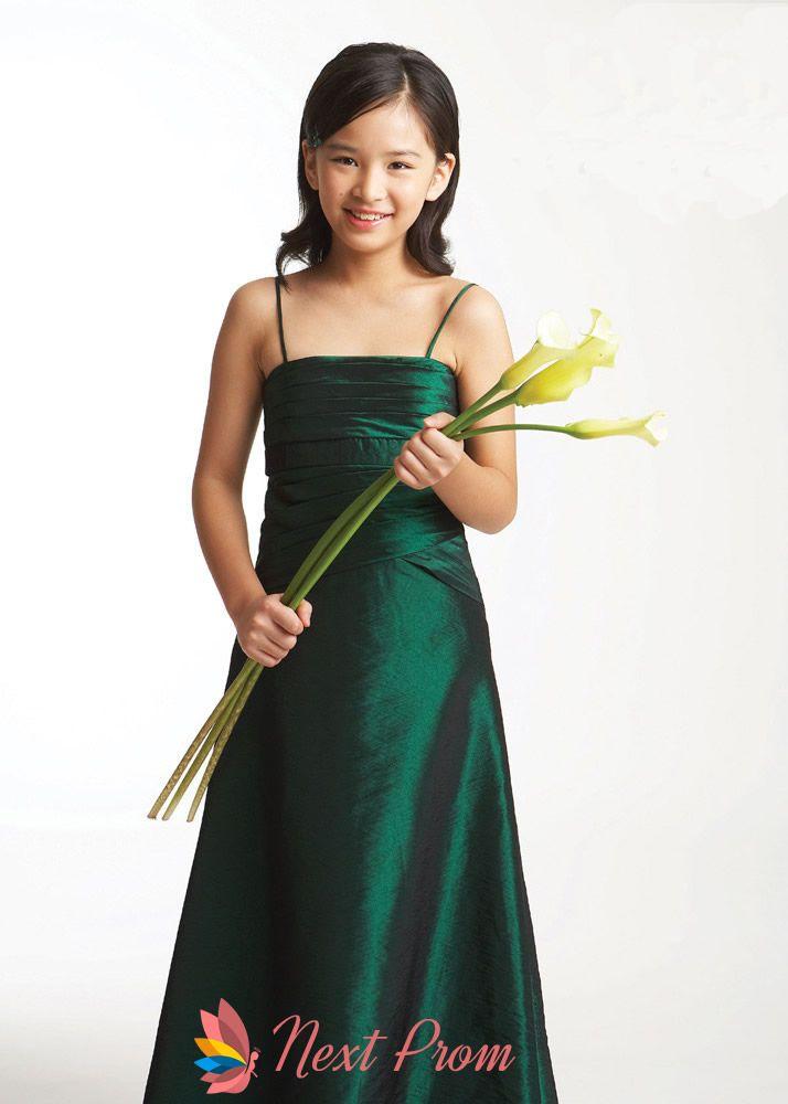 flower girl dresses in emerald green,emerald green flower girl dresses,spaghetti strap flower girl dresses $62.00 (USD)