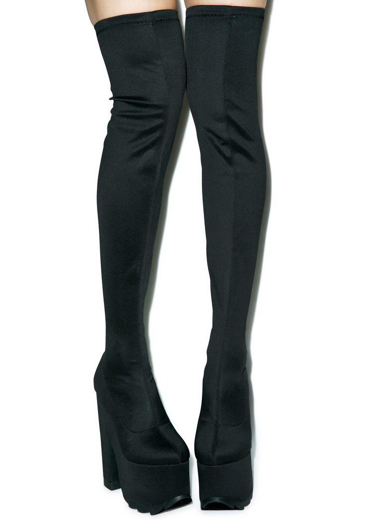 Y.R.U. Labyrinth Thigh High Platform Boots   Dolls Kill