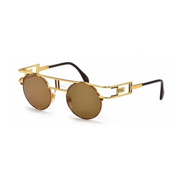 Cazal Cazal 958 033 (384411201) featuring polyvore, women's fashion, accessories, eyewear, sunglasses, cazal, cazal sunglasses, cazal glasses, cazal eyewear and metal glasses