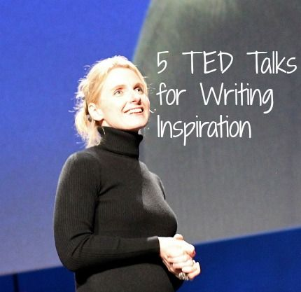 If you're looking for writing inspiration,I've sifted through all those Ted Talks for the ones that will give you the kind of inspiration only writers seek.