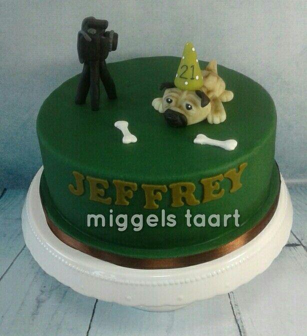 Pug photography cake fotografie en mopshond taart
