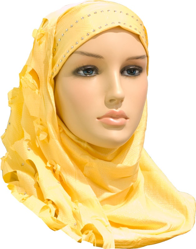 Igal Hijab - Yellow - Rosy Cut http://www.muslimbase.com/clothing/hijabs/igal-hijab/igal-hijab-yellow-rosy-p-7154.html