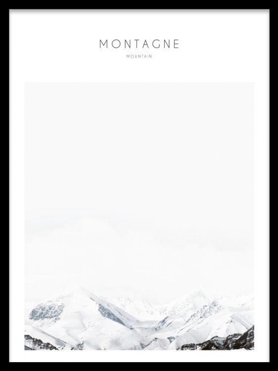 Elementer med natur scener, fjell. Maleri med fotografering