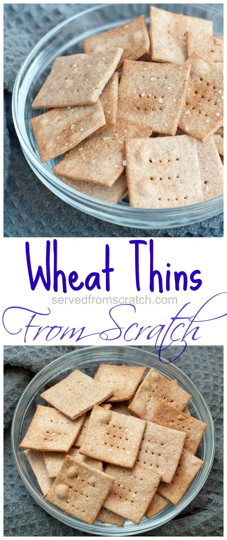 Make your own Wheat Thin Crackers at home, from scratch with just 6 simple ingredients!