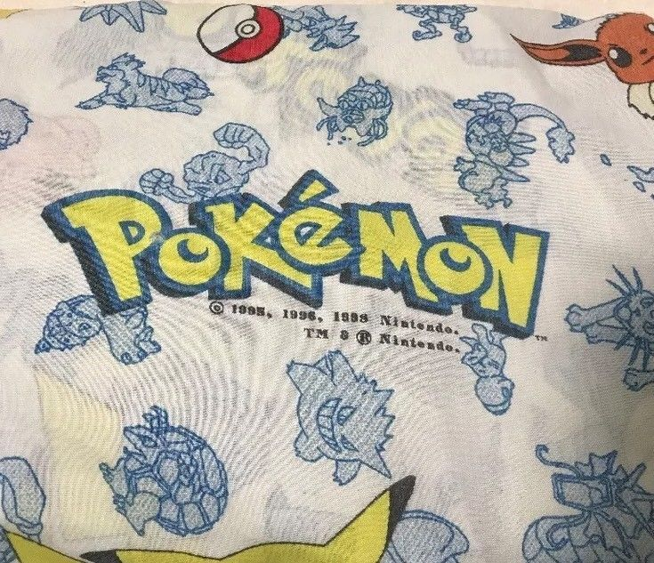 Pokemon Sheet Vintage Pokemon Fabric Nintendo Bedding Flat Sheet 1998 Twin  | eBay