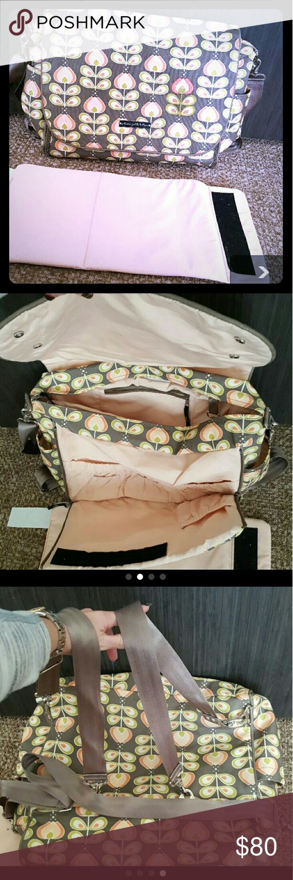 Petunia Pickle Bottom extra large diaper bag This is pre-owned but in really good condition Petunia Pickle Bottom diaper bag the compartments can wear it backpack style or around the shoulder straps are adjustable comes with pad to lay down to change baby Petunia Pickle Bottom Bags Baby Bags