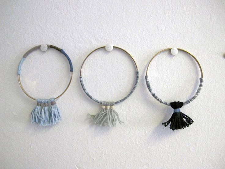 Contextuality / wrapped tassel bangles