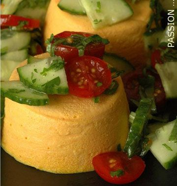 Flans de carottes au chèvre frais - Recettes de cuisine Ôdélices