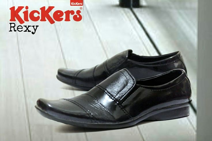Kickers Richard IDR 380.000 Size 39-43 Genuine Lack Leather Tpr Rubber Sole Press by Machine