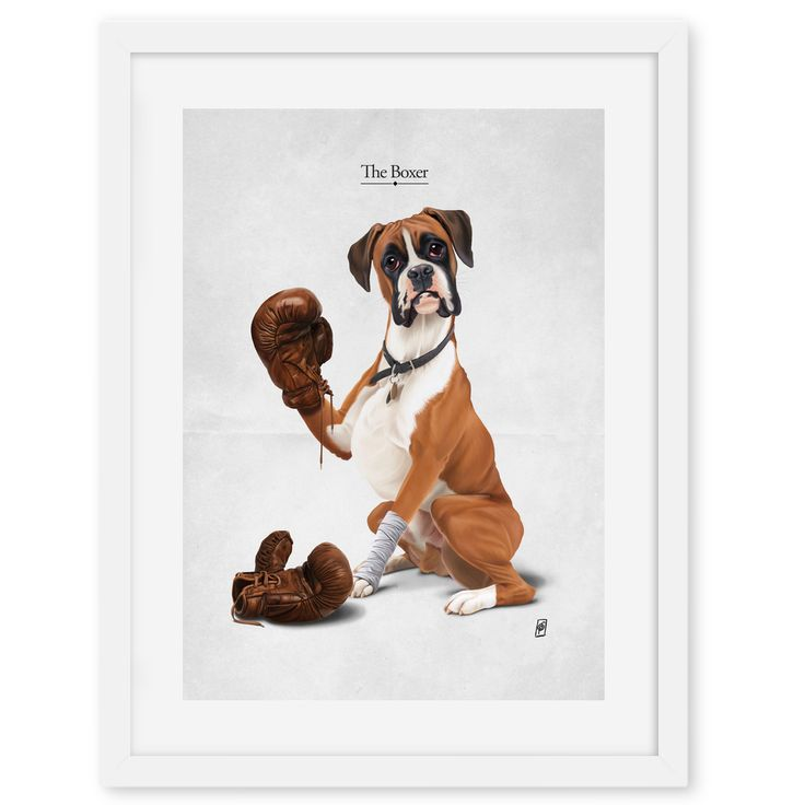 The Boxer art | decor | wall art | inspiration | animals | home decor | idea | humor | gifts