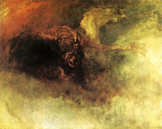 Уильям Тернер. Смерть на бледном коне. 1825-30 г.
