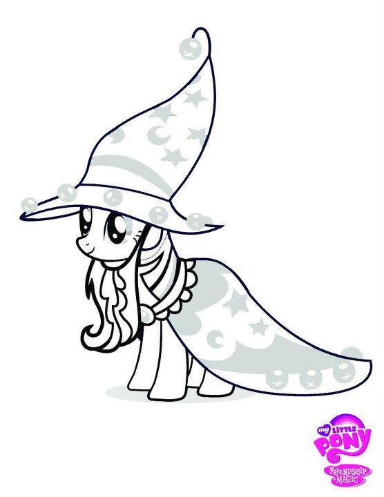 My Little Pony Witch Halloween Coloring Pages