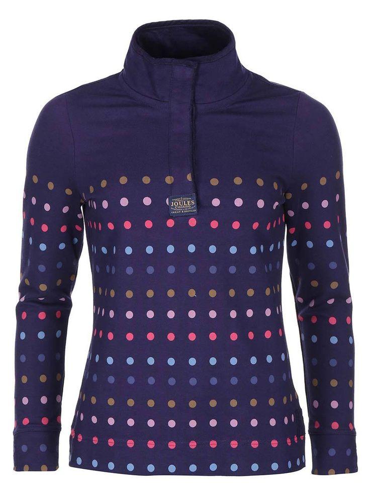 Bluză sport de damă bleumarin cu buline colorate Tom Joules Cowdray - Tom Joule