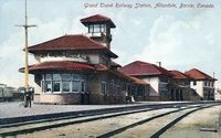 Grand Trunk Railway Station, Allandale (Color - Part of modern day Barrie)