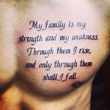 frases para tatuajes de hombre en el pecho