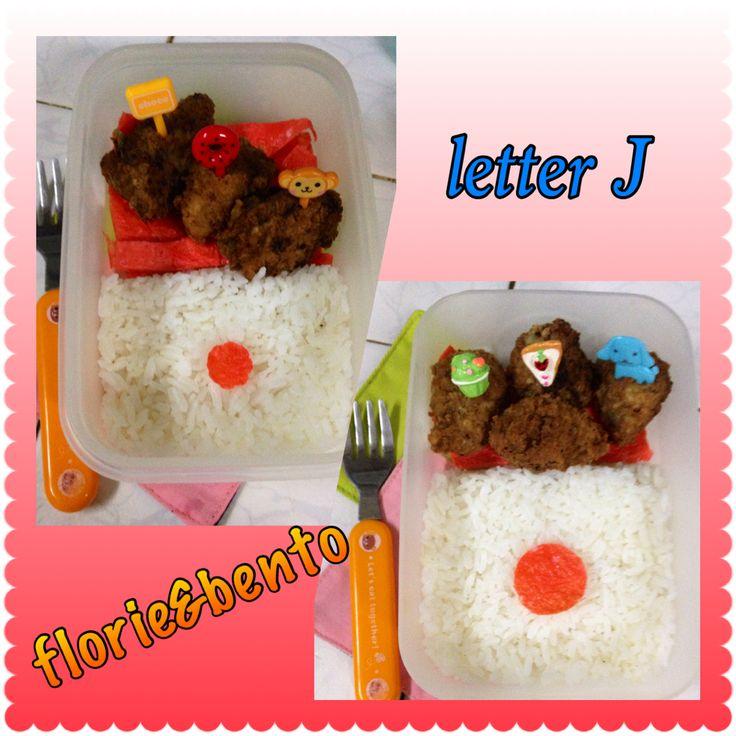 Letter J bento Japan