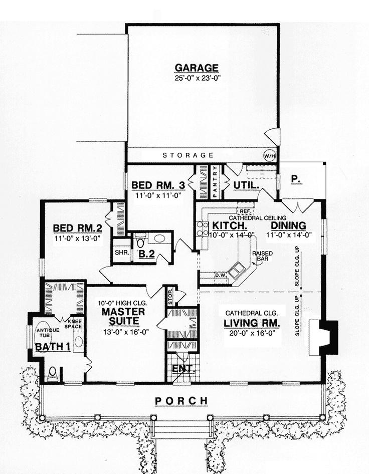 Farmhouse Plan First Floor 030d 0035 House Plans And