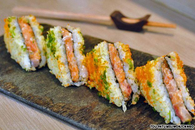 Sushi Sandwich, ISAO - Bangkok. Someone pls go with me!!!!
