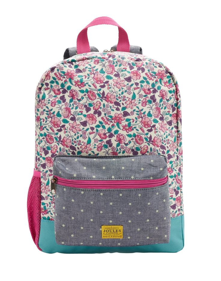 Joules Girls Rucksack Ditsy Floral We Know What You Need