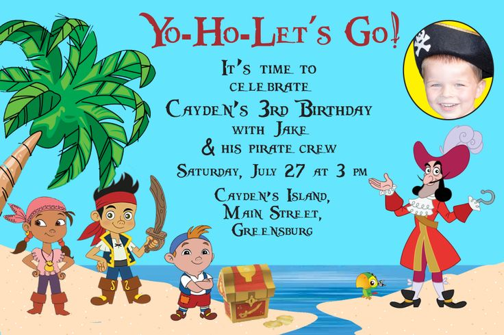 Jake And The Neverland Pirates Birthday Invitation is good invitations ideas