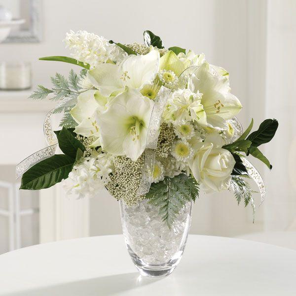 White Roses Amaryllis Rice Flower And Mini Pomps