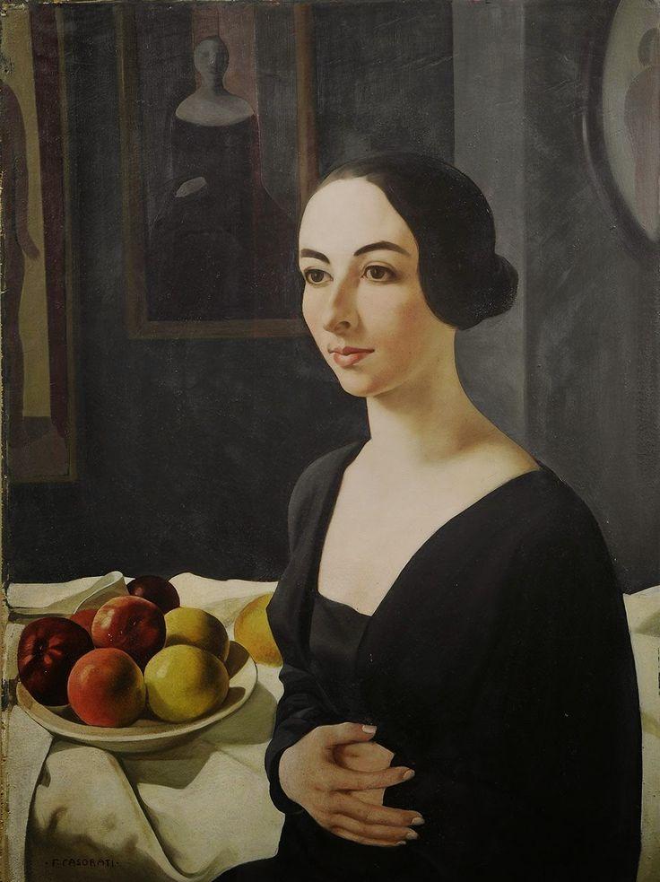 Felice Casorati - Portrait of Hena Rigotti, 1924