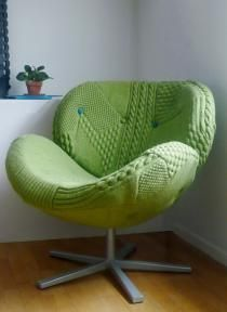 #Knitted ChairDesign Rachel, Knits Interiors, Knits Chairs, Melanie Porter, Decor Pillows, Chairs Upholstery, Knits Furniture, Chairs Design, Unique Chairs