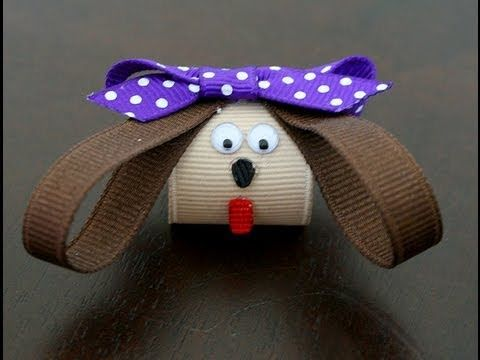 Puppy hair clip/hairbow (How to make a puppy dog hair clip)