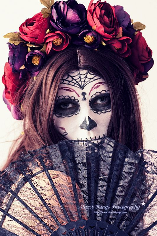Dia De Los Muertos Sugar Skull MakeUp