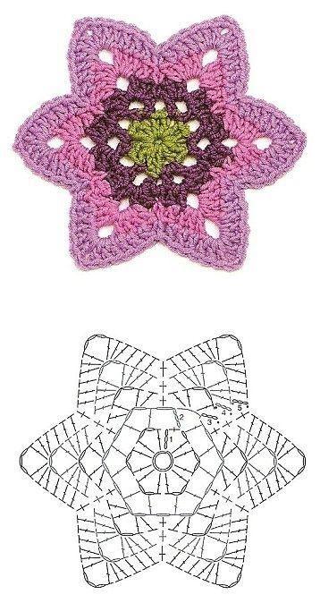 crochet star snowflake
