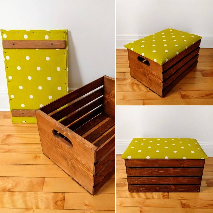 Quick transformation project of a pine crate. This storage box is an idea for a Xmas present!  #crate #storagebox #woodenbox #woodenboxes #forsale #furnitureforsale #homedecoration