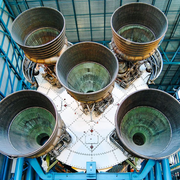 14 Things You Didn't Know About the Saturn V Rocket: The five massive Rocketdyne F-1 engines in the rocket's first stage produced over 7,500,000 pounds of thrust. That's the equivalent to the power of 30 Boeing 747 jumbo jets!