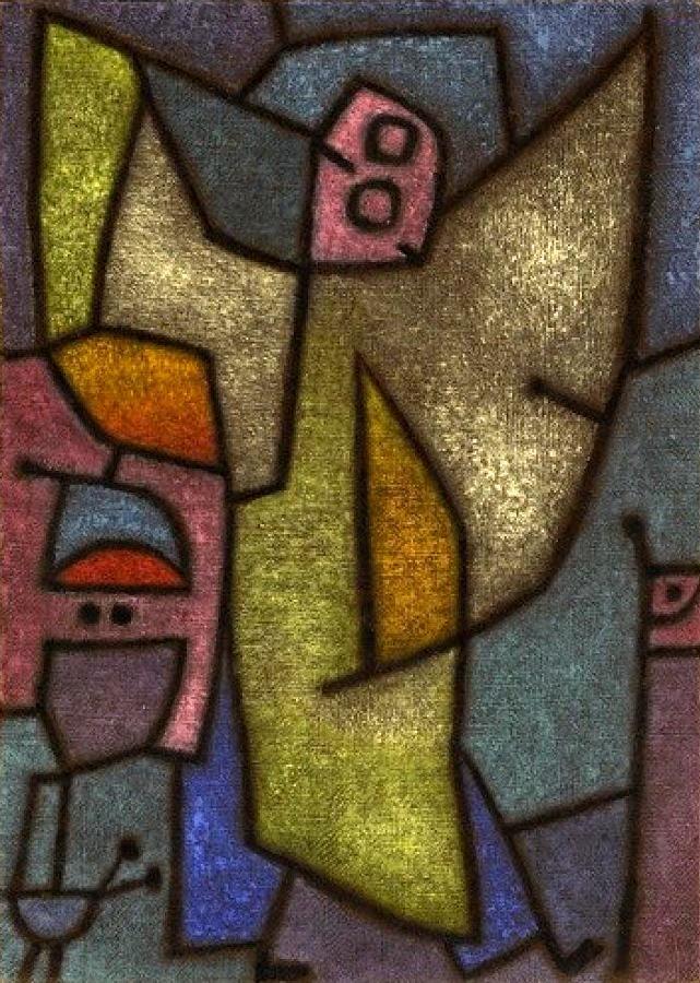 Angelus Militans, Switzerland, 1940, by Paul Klee.